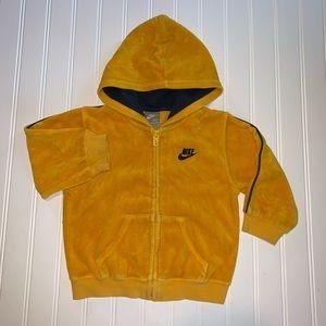 Nike velour hooded sweater 24m